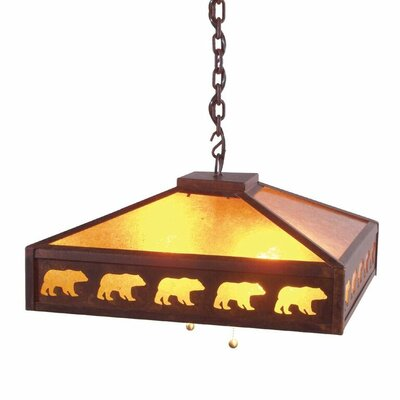 Meadow Band of Bears 2-Light Pendant