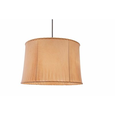 1-Light Drum Pendant Size: 12.25 H x 19 W x 19 D