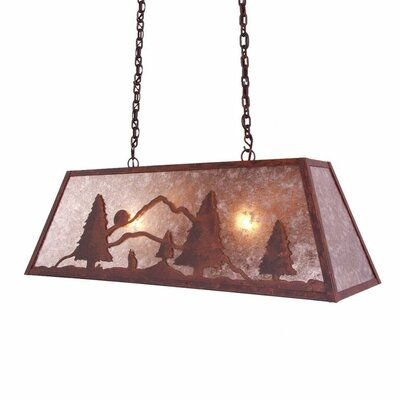 Bark at the Moon Canyon 2-Light Kitchen Island Pendant