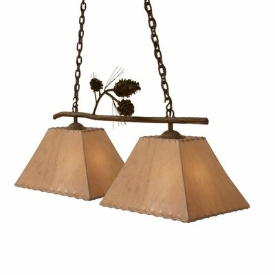 Ponderosa Pine 2-Light Kitchen Island Pendant
