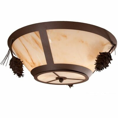 Ponderosa Pine 2-Light Flush Mount