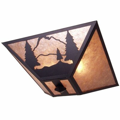 Timber Ridge 2-Light Flush Mount