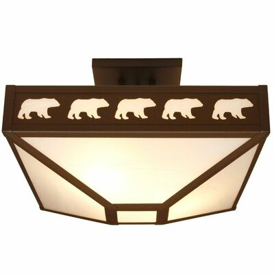 Band of Bears 4-Light Semi Flush Mount