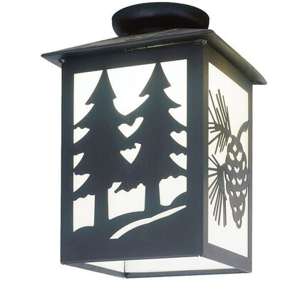 Twin Tree 1-Light Semi Flush Mount Size: 14 H x 9.5 W x 9.5 D