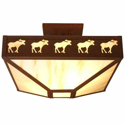 Band of Moose 4-Light Semi Flush Mount