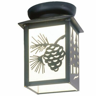 Twin Tree 1-Light Semi Flush Mount Size: 9 H x 6 W x 6 D