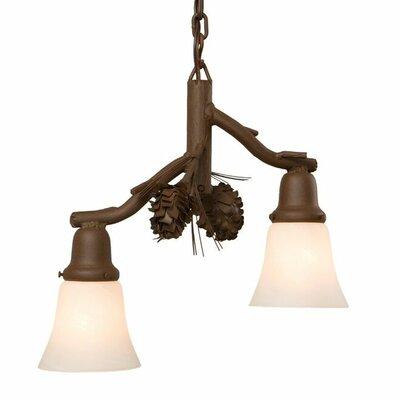 Ponderosa Pine 2-Light Mini Pendant