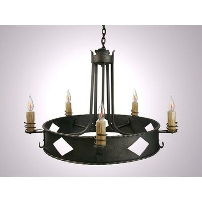 Old Adobe 5-Light Candle-Style Chandelier Finish: Old Iron