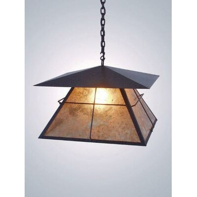 Lapaz 1-Light Swag Pendant Finish: Black, Shade / Lens: Amber Mica