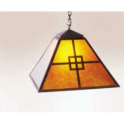 Prairie 1-Light Swag Pendant Finish: Black, Shade / Lens: Amber Mica