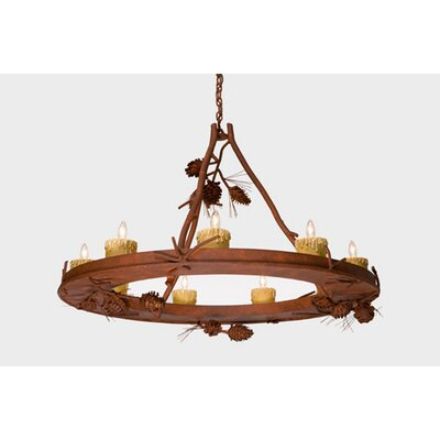 Ponderosa Pine 9-Light Candle-Style Chandelier Finish: Rust