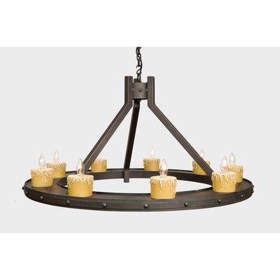 Rivets 9-Light Candle-Style Chandelier Finish: Mountain Brown