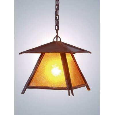 Bundle of Sticks 1-Light Pendant Finish: Rust, Shade / Lens: Bungalow Green