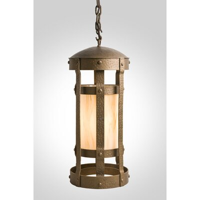 Duomo 1-Light Foyer Pendant Finish: Architectural Bronze, Shade / Lens: Amber Mica
