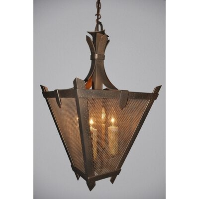 Tuscany Mesh 1-Light Hanging Lantern Finish: Rust