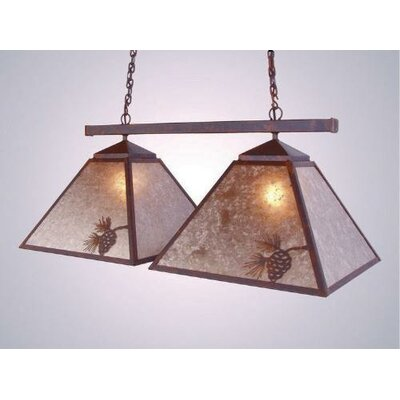 Pinecone Double Game Swag Pendant Finish: Architectural Bronze, Shade / Lens: White Mica