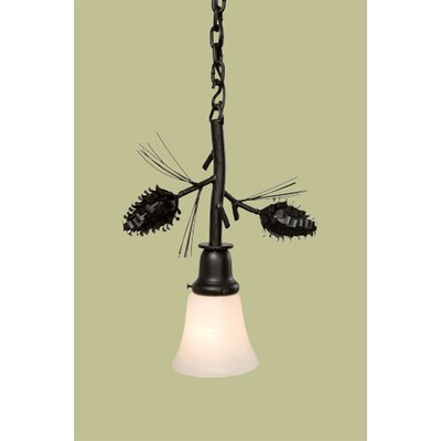 Ponderosa Pine Glacier 1-Light Pendant Finish: Black