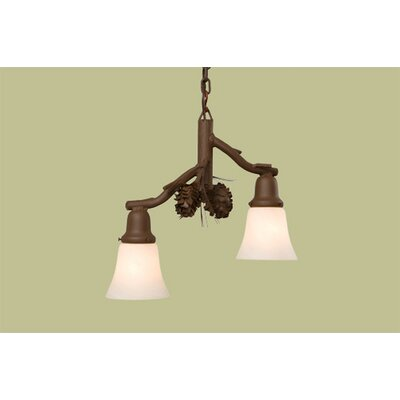 Ponderosa Pine Glacier 2-Light Pendant Finish: Rust