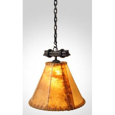 Sticks Single Anacosti 1-Light Pendant Finish: Mountain Brown, Shade / Lens: Natural Rawhide