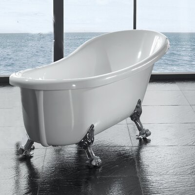 Naples 66 x 21 Clawfoot  Slipper Tub