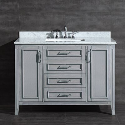 Daniel 48 Single Bathroom Vanity Set Base Finish: Gray