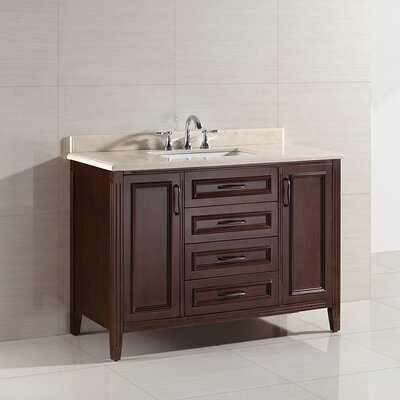 Daniel 48 Single Bathroom Vanity Set Base Finish: Cocoa