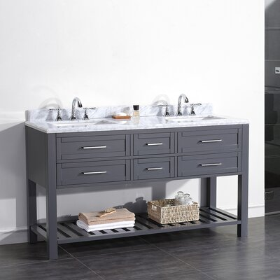 Pasadenas 60 Double Carrera Top and Rectangular Basin Vanity Set