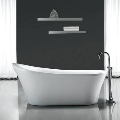 Rachel 70 x 34 Freestanding Acrylic Slipper Bathtub