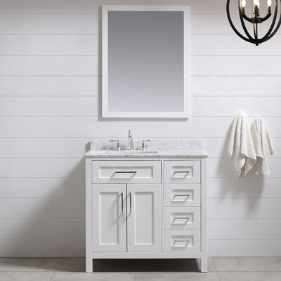 Tahoe 36 Single Bathroom Vanity Set with Mirror in White