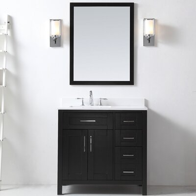 Tahoe 36 Single Bathroom Vanity Set with Mirror in Espresso
