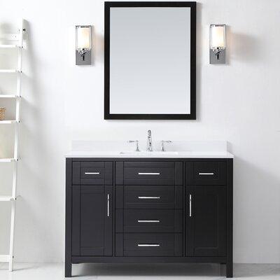 Tahoe 48 Single Bathroom Vanity Set with Mirror in Espresso