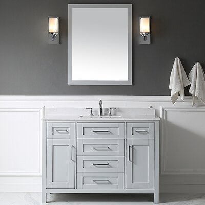 Tahoe 48 Single Bathroom Vanity Set with Mirror in Dove Gray