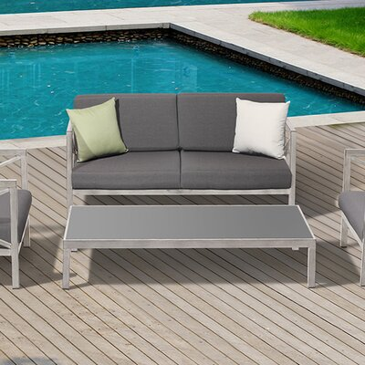 Pasadena 4 Piece Deep Seating Group with Cushions