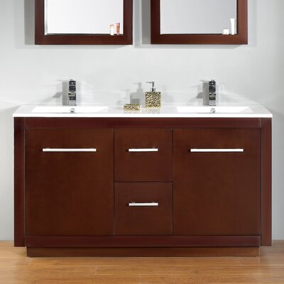 Cubix 60 Double Vanity Set