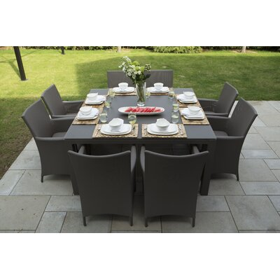 Calais 9 Piece Dining Set with Cushions