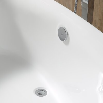 Leni 31 x 66.25 Freestanding Soaking Bathtub