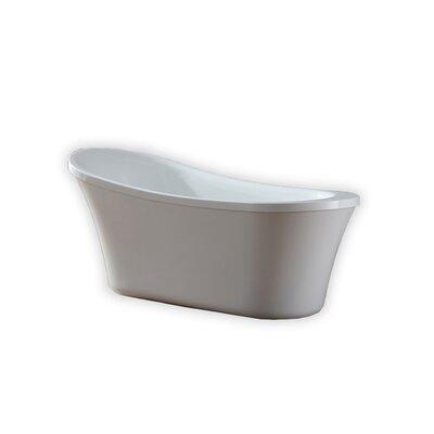 Ruby 29.13 x 65 Freestanding Soaking Bathtub