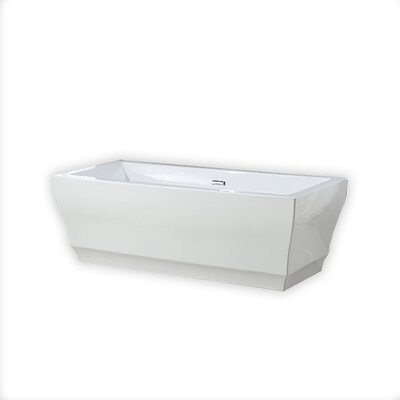Vita 31.5 x 69.25 Freestanding Soaking Bathtub