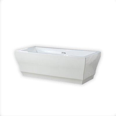 Vita 31.5 x 69.25 Freestanding Soaking Bathtub