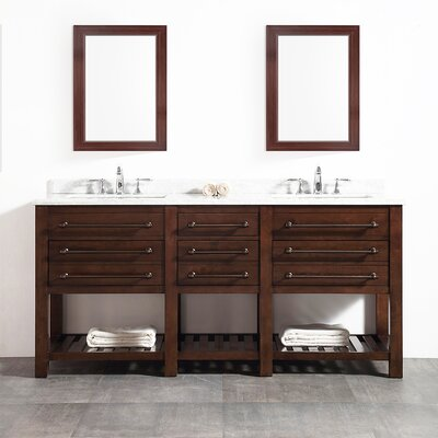 Harry 72 Double Bathroom Vanity Set
