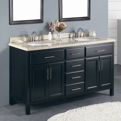 Milan 60 Double Bathroom Vanity Set