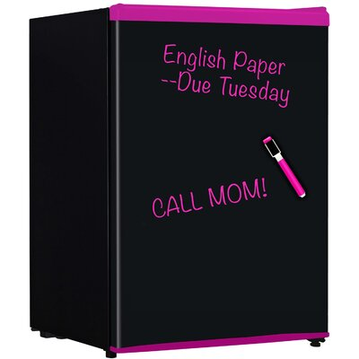 24 Cu Ft Compact Refrigerator With Freezer Color Pink image