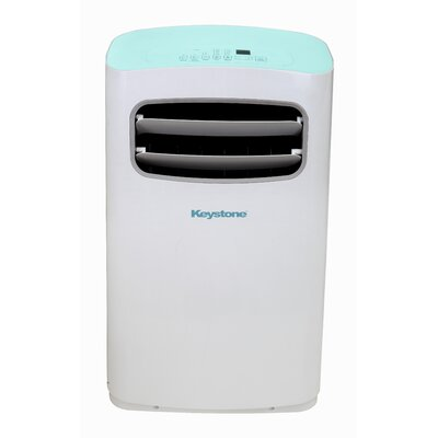Keystone - 12,000 BTU Portable Air Conditioner - White/Blue KSTAP12CL