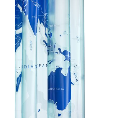 Saltonstall World Map Shower Curtain