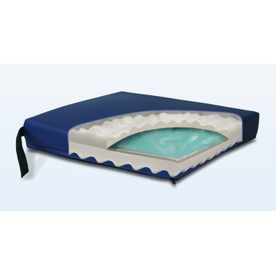 Convoluted Gel-Foam Cushion in Navy Size: 3 H x 16 W x 16 D