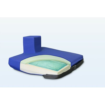 Apex Core Wedge Pommel Gel-Foam Cushion in Royal Blue Size: 2 - 4 H x 20 W x 16 D