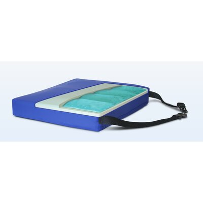 Apex Quad Gel-Foam Cushion in Royal Blue Size: 3 H x 18 W x 16 D
