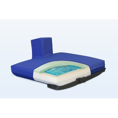 Apex Core Pommel Gel-Foam Cushion in Royal Blue Size: 3 H x 18 W x 16 D