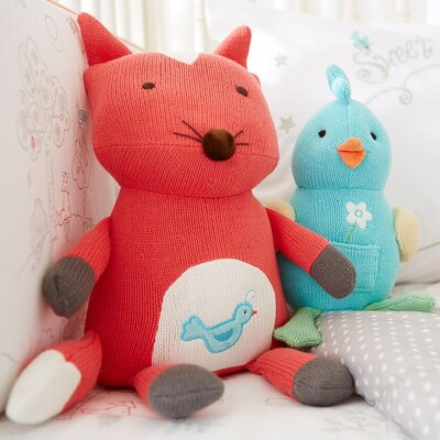 Fox Knit Toothfairy 100% Cotton Pillow