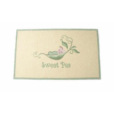 Sweet Pea Hand Hooked Wool Ivory Area Rug